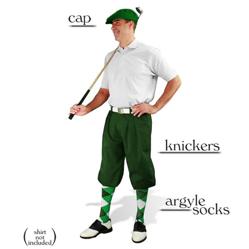 Golf Knickers - Dark Green Start-in-Style Outfit