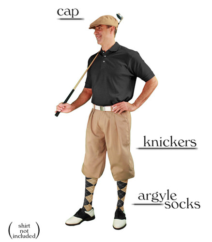 Golf Knickers - Khaki Start-in-Style Outfit