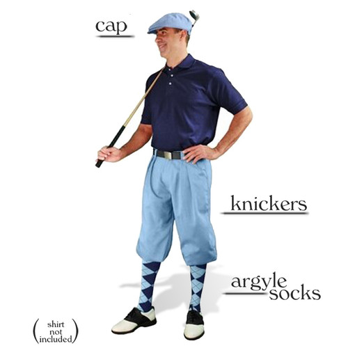 Golf Knickers - Light Blue Start-in-Style Outfit