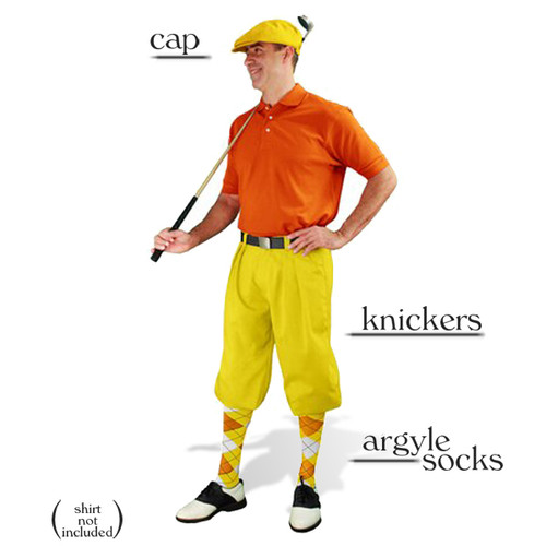 Golf Knickers - Yellow Start-in-Style Outfit