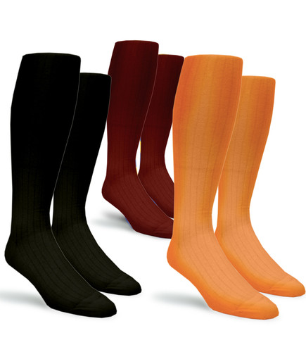 Mens Over-the-Calf Solid Socks