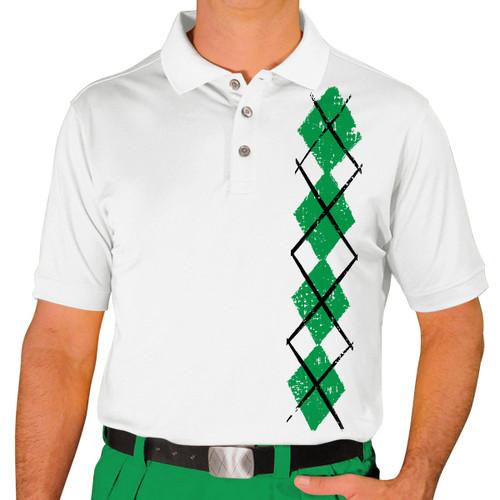Mens Argyle Heaven Golf Shirt - Lime