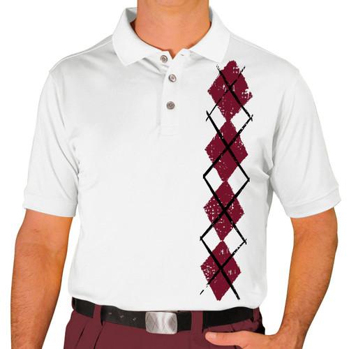 Mens Argyle Heaven Golf Shirt - Maroon