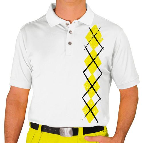 Mens Argyle Heaven Golf Shirt - Yellow