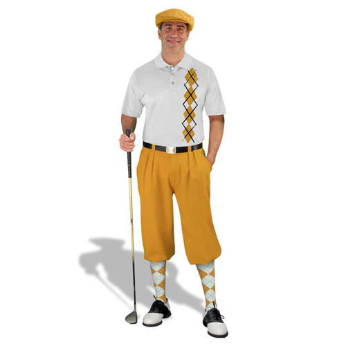 Golf Knickers -White/Gold  Argyle Heaven Outfit