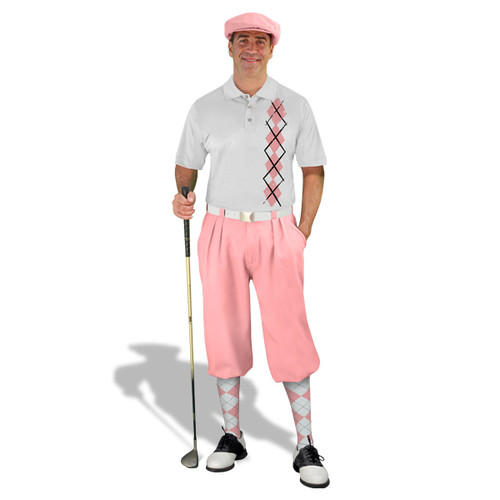 Golf Knickers - White/Pink Argyle Heaven Outfit