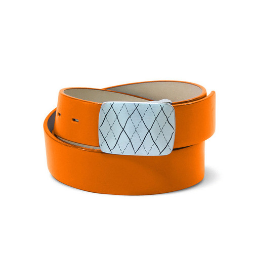 Couture Leather Mens Golf Belt - Orange