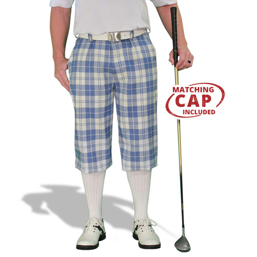 Plaid Golf Knickers & Cap - 'Par 5' Mens Waterford
