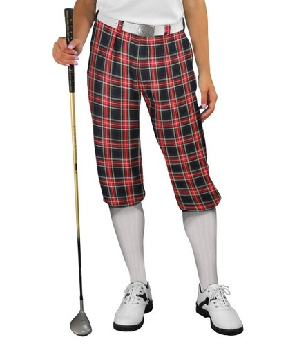 Plaid Golf Knickers - 'Par 5' Ladies Navy Stewart - Size 14