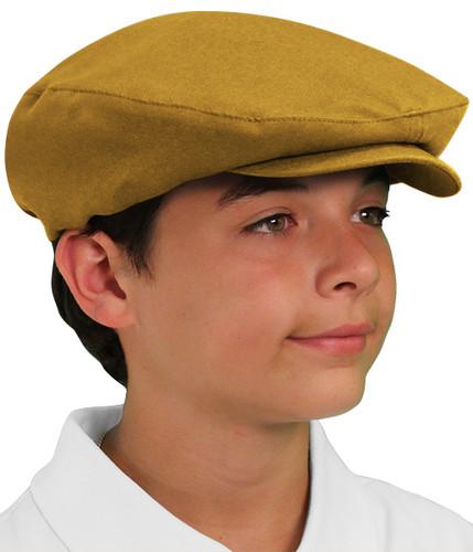 Golf Cap - 'Par 3' Youth Gold Microfiber