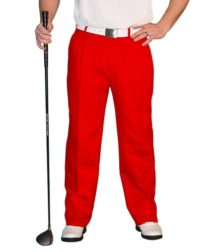 Golf Trousers - 'Par 4' Mens Cotton/Ramie