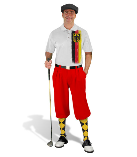 Golf Knickers - German Homeland Outfit - Red