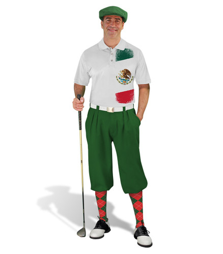 Golf Knickers - Mexican Homeland Outfit - Green