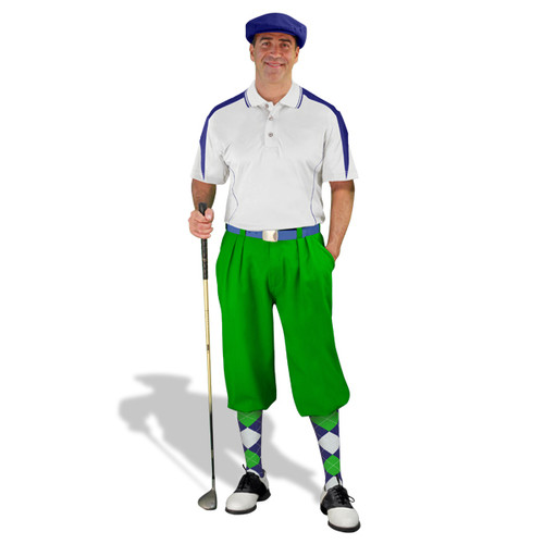 Mens Wedge White/Navy, Lime Golf Outfit