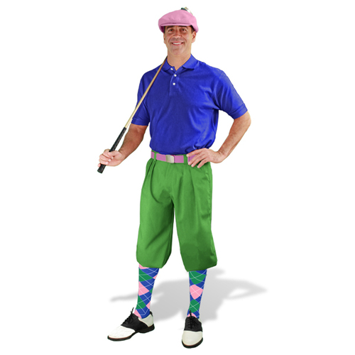 Mens Lime & Royal Golf Outfit