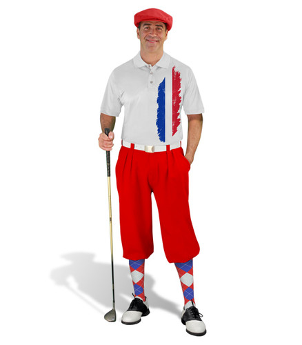 Golf Knickers - France Homeland Outfit - Red