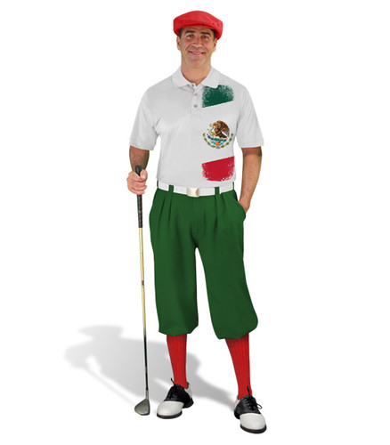 Golf Knickers - Mexican Homeland Outfit - Red