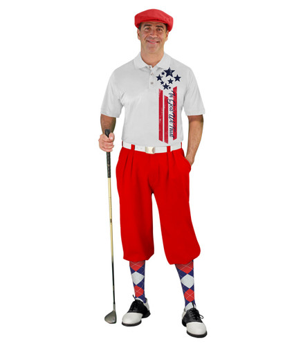 Golf Knickers - American Homeland Outfit - Trust - Red