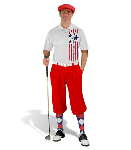 Golf Knickers - American Homeland Outfit - Bless - Red