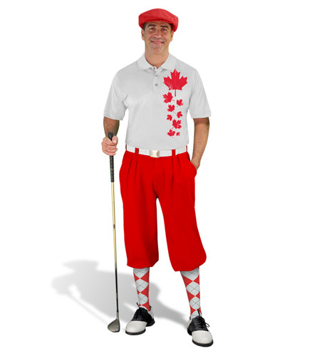 Golf Knickers - Canadian Homeland Outfit - Maple Leaves
