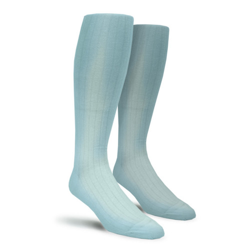 Solid Socks - Mens Over-the-Calf Light Blue
