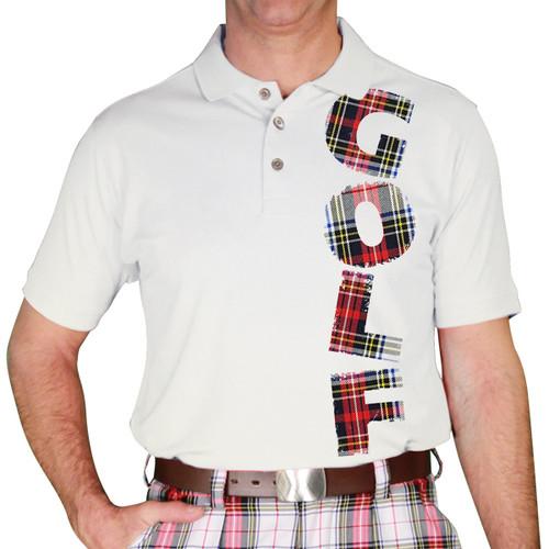 Mens Stewart Plaid Golf Shirt - Dress Stewart