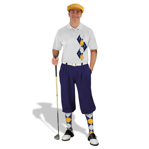 Golf Knickers Argyle Paradise Outfit 5U - Navy/White/Gold