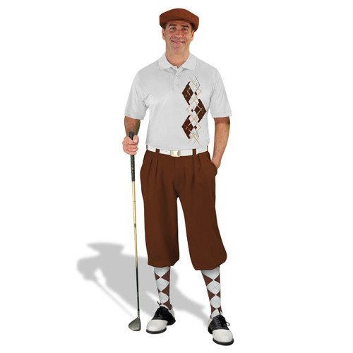 Golf Knickers Argyle Paradise Outfit CC - Brown/White