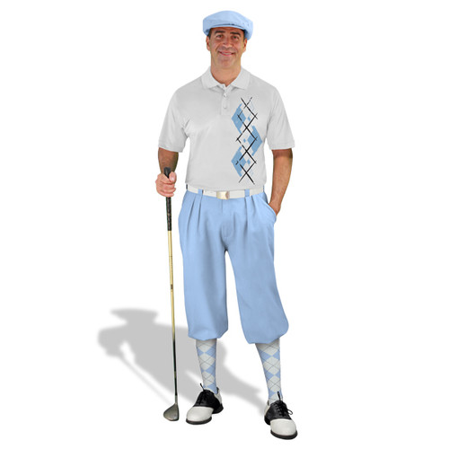 Golf Knickers Argyle Paradise Outfit EE - Light Blue/White