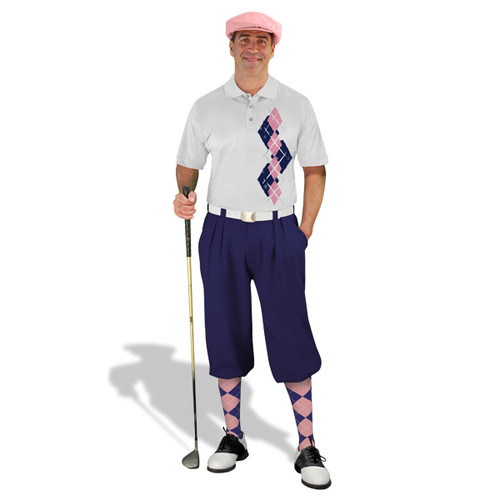 Golf Knickers Argyle Paradise Outfit AAA - Navy/Pink