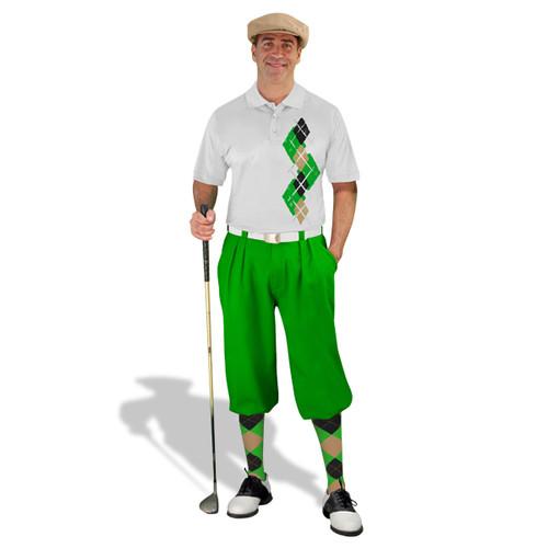 Golf Knickers Argyle Paradise Outfit MMM - Lime/Khaki/Black