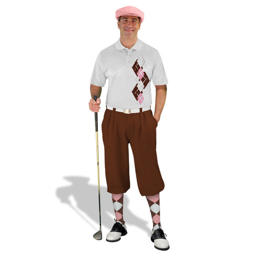 Golf Knickers Argyle Paradise Outfit AAAA - Brown/Pink/White