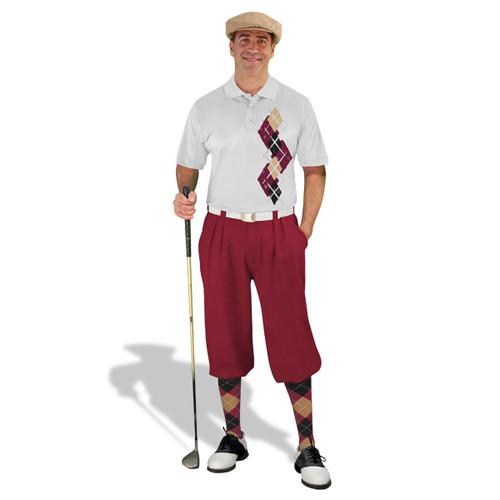 Golf Knickers Argyle Paradise Outfit CCCC - Maroon/Black/Khaki