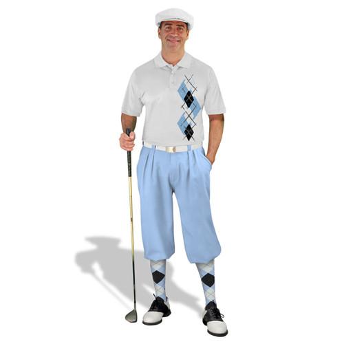 Golf Knickers Argyle Paradise Outfit YYYY - Light Blue/Black/White