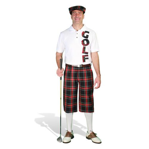 Mens Black Stewart & Graphic Shirt Outfit - Golf