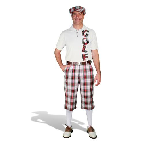 Mens Dress Stewart & Graphic Shirt Outfit - Golf