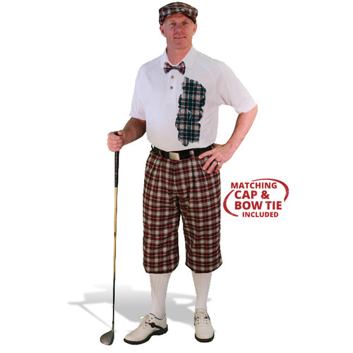 Mens Plaid² Old English Golf Outfit