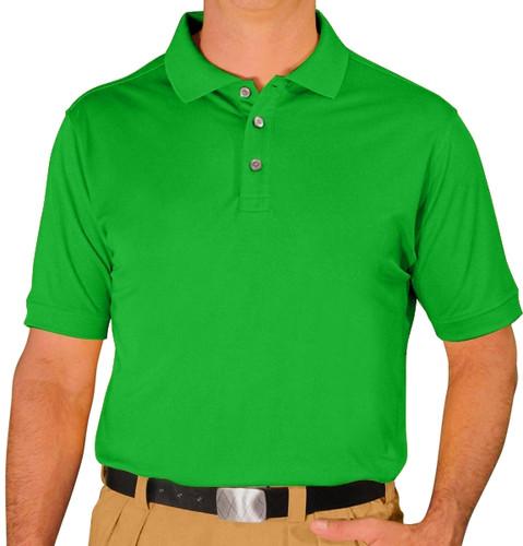 Mens Pro-Dry Golf Shirt - Lime