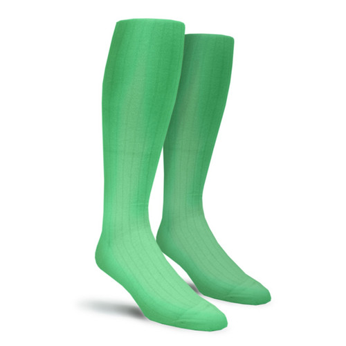 Solid Socks - Mens Over-the-Calf Lime