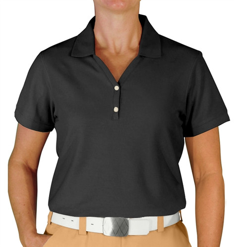 Ladies Clubhouse Golf Shirt - Black