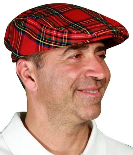 Plaid Golf Cap - 'Par 5' Mens Royal Stewart