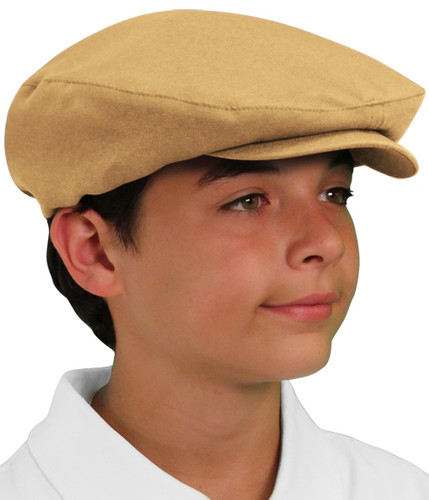 Golf Cap - 'Par 3' Youth Khaki Microfiber