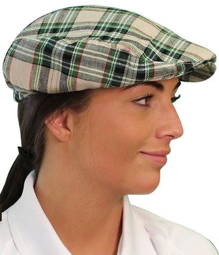 Plaid Golf Cap - 'Par 5' Ladies Khaki Stewart