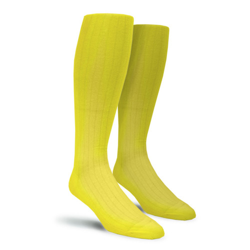 Solid Socks - Mens Over-the-Calf Yellow
