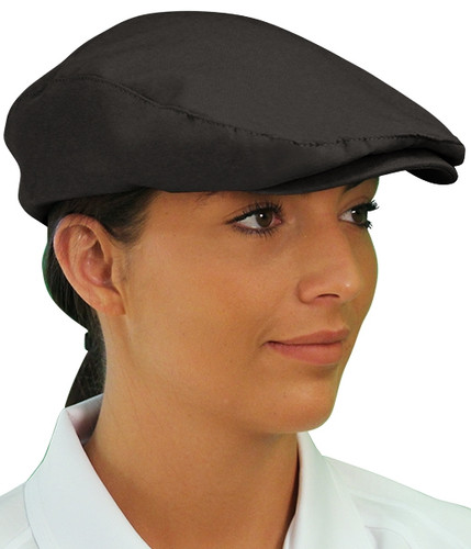 Golf Cap - 'Par 3' Ladies Black Microfiber