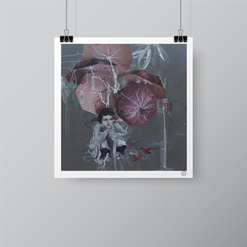 """Silver Woods"" Limited-Edition Fine Art Print by Renata Santamarina"