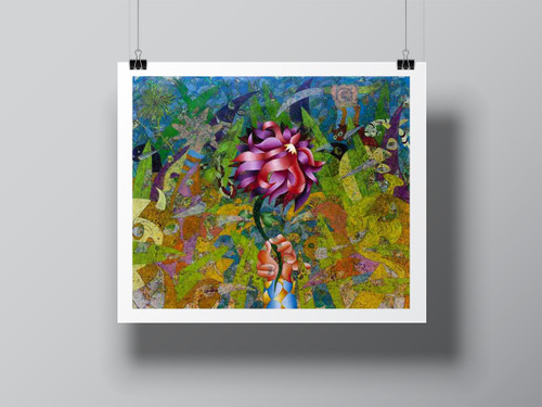 """Gran Flor (Large Flower)"" Limited-Edition Signed Print by Benjamín Hierro"