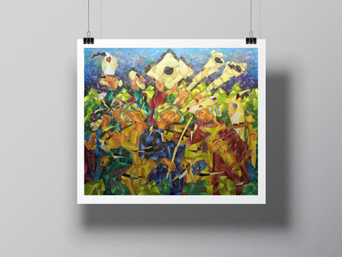 """""""Musicos Mediavales (Medieval Music)"""" Limited-Edition Signed Print by Benjamín Hierro"""