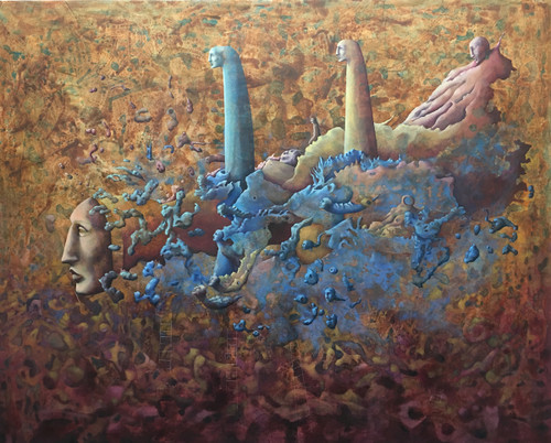 """""""Disintegration of Reality"""" Oil on Canvas - Original by Angela Alés"""