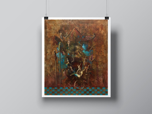 """Caravan"" Hand Signed Limited Edition Fine Art Print by Angela Alés"